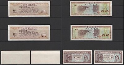 CHINA - 2 x TEN FEN NOTES -  AE527468 & YM035684 - LIGHTLY CIRCULATED.