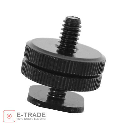"""1/4"""" Tripod Screw To Flash Hot Shoe Cold Shoe High Quality Dslr Adapter Mount"""