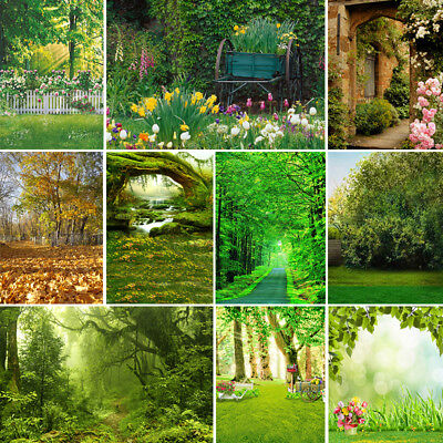 Vinyl Studio Backdrop Photography Fairy Tale Forest Photo Background Green 3Size