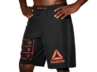 XXL Men/'s Reebok Combat The Noble Fight MMA Washed Training Shorts Grey