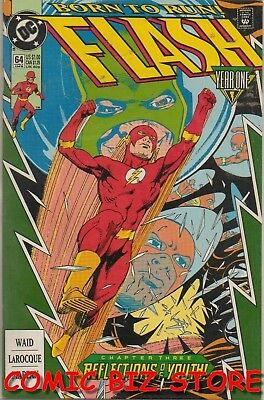 Flash #64 (1992) 1St Printing Bagged & Boarded Dc Comics