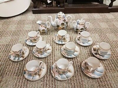 Small Dainty Vintage 23 piece Japanese Tea/Coffee Set Hand Painted