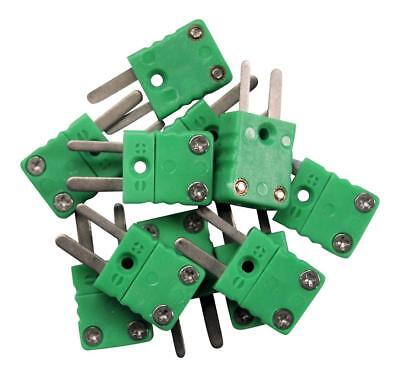 10 x Type K Thermocouple Male Mini Connectors Plug IEC 584 UK seller