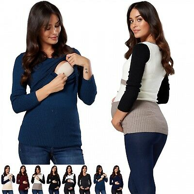 Zeta Ville. Women's Maternity Nursing Jumper V-neck Long Sleeves. 454p