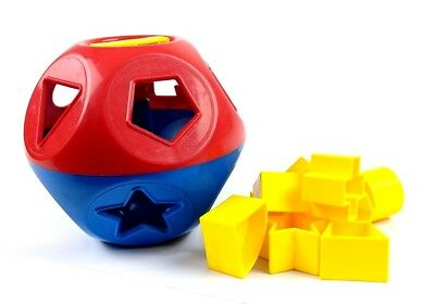 Vintage Tupperware Tuppertoys Shape O Ball Sorter Toy Red Blue Yellow Complete