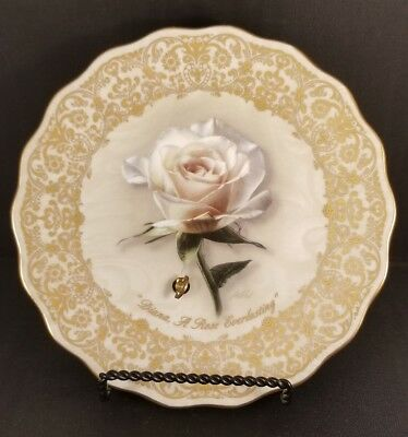 """Bradford Exchange Collector Plate Princess """"Diana, a rose everlasting"""" Musical"""