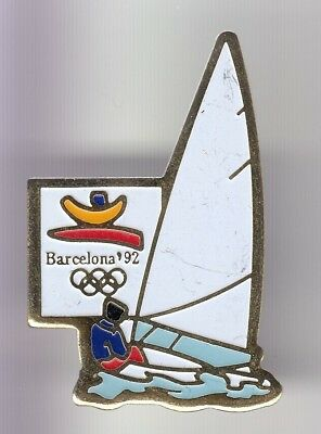 Rare Pins Pin's .. Olympique Olympic Barcelone Barcelona 1992 Bateau Voilier ~18