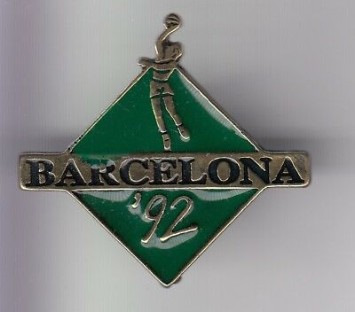 Rare Pins Pin's .. Olympique Olympic Barcelone Barcelona 1992 Basket Ball 3D ~18