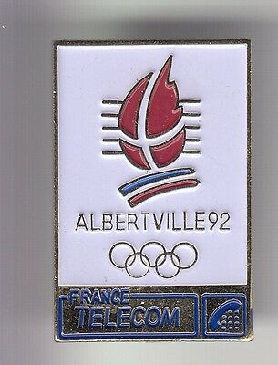 Rare Pins Pin's .. Olympique Olympic Albertville 92  France Telecom 3D Or N°1~17