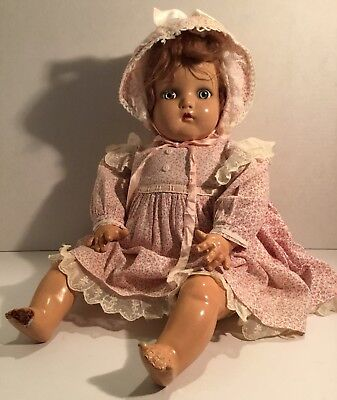 VINTAGE Madame Alexander Little Genius Composition Character Baby Doll