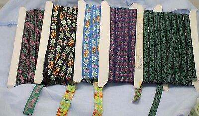 Vtg Ribbon Floral Woven Variety on Bolts -  LOT OF 5