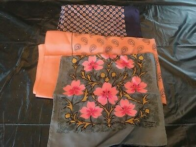 Lot of 3 Vintage Liberty Made in England Scarves