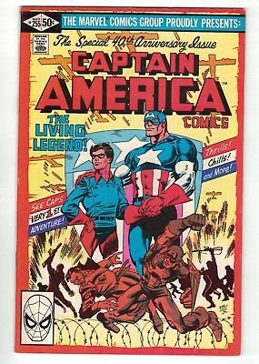 Captain America #255 & #383 • 40th and 50th Anniversary issues • 2 comics