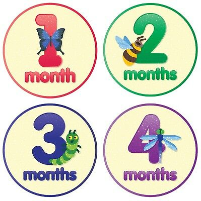 Baby Monthly Stickers By Smart Mom 12 Monthly Milestone Stickers for Baby