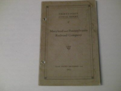 Maryland And Pennsylvania RR  Thirty-First Annual Report 26 P.  December 31,1931