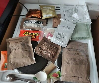 Mre Food Ration Pack Camping Survival Ready To Eat Meal.