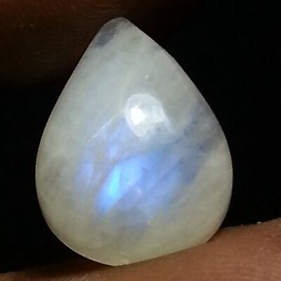 8.90 Ct 100% Natural Flashy Rainbow Moonstone Pear Cabochon Loose Gemstone
