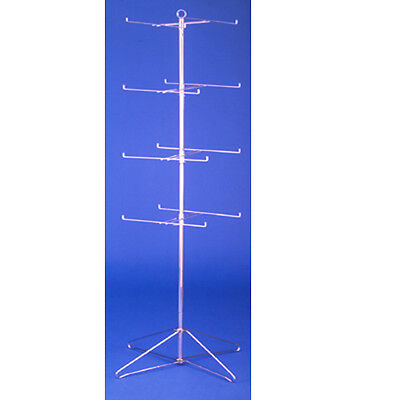 "4 Tier Free Standing Spinning Rotating Wire Spin Rack 63.5"" H"