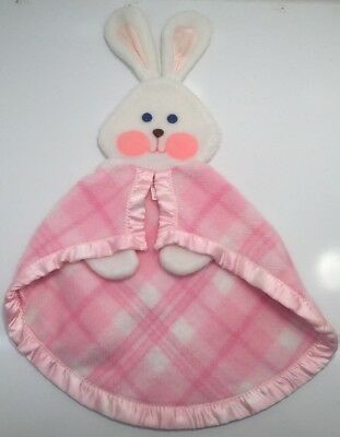 Fisher Price 1979 Vintage PINK Bunny Baby Blanket Security Lovey