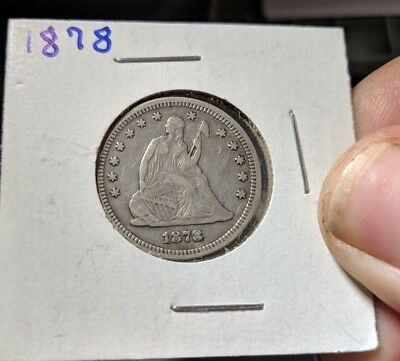 1878 Philadelphia Mint Silver Seated Liberty Quarter