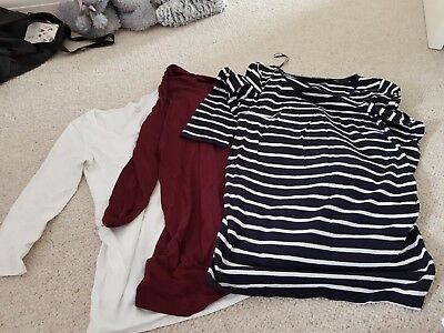 Size 10 Maternity Tops Tshirts Bundle H&M and New Look