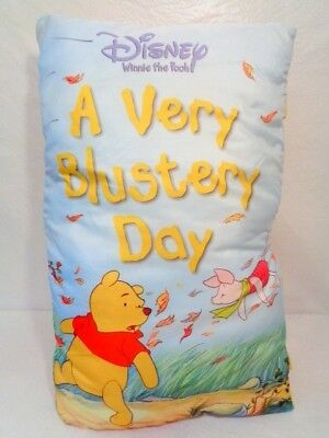 """Disney Winnie the Pooh Huge Soft Book A Very Blustery Day Pillow Book 23"""" 2006"""