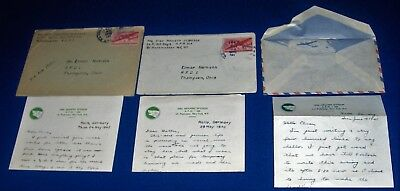 3 WWII Soldier Letters May 1945 Occupied Halle Germany 104th Inf Letterheads
