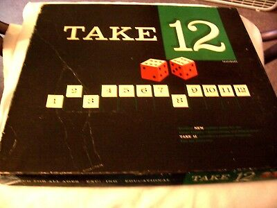 Vintage Board Game Take-12 Parker Brothers Dice Game