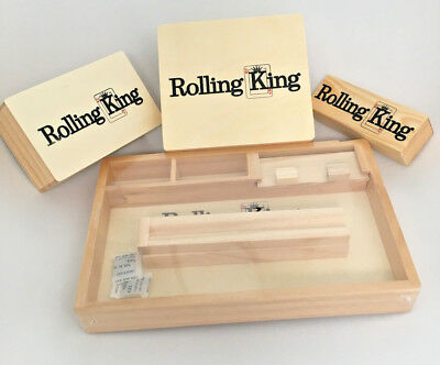 Rolling King Smokers Storage Box Sets Tobacco Herb Wooden Roll tray Gift Idea