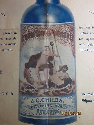 """Antique """"j. C. Childs Storm King Whiskey"""" Advertising Price List Pamphlet  1901"""