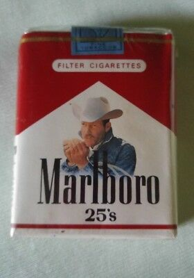 Marlboro Man Cowboy Cigarettes 25's Collectors Unlimited Pack 1990's New