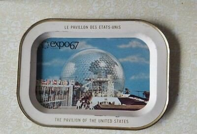 Expo 67 Le Pavillon Des Etats-Unis World's Fair Mini Tray