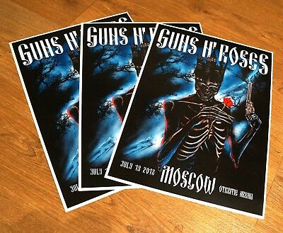Guns N Roses Moscow Concert Poster 13 July 2018 # /250