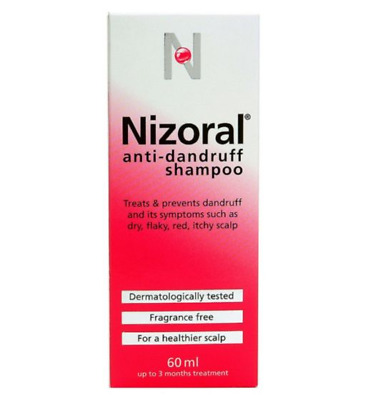 Nizoral Anti-Dandruff Shampoo 1x60ml Ketoconazole/Hair/Dry/Red/Flaky/Scalp NEW
