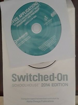 Alpha Omega Publications Switched on Schoolhouse 2014 Office Application