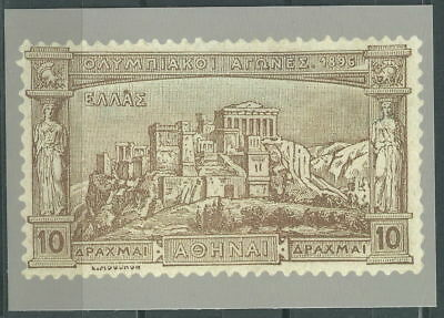 GREECE GREEK EDITION 2004 OFFICIAL CARD WITH 10 D OF 1896 1st OLYMPIC GAMES RARE