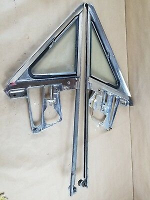 Ford Thunderbird Oem 1965-66 Chrome Vent Window Glass & Assembly Right & Left