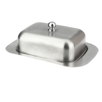 Stainless Steel Butter Dish with Lid Dessert Serving Tray Fruit Container