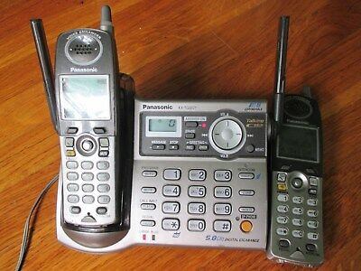 PANASONIC KX-TG5571M Cordless Phone Answering System + 2 Handsets ONLY ONE BASE
