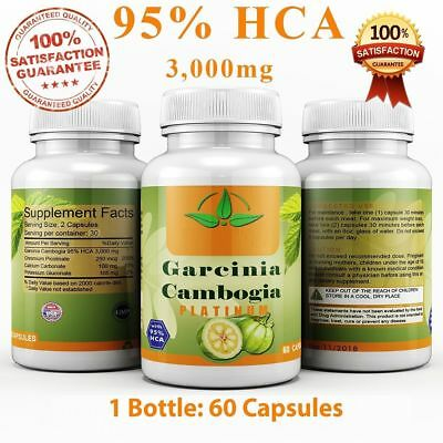 1x Bottle -3000mg Daily GARCINIA CAMBOGIA 95% HCA Weight Loss Diet
