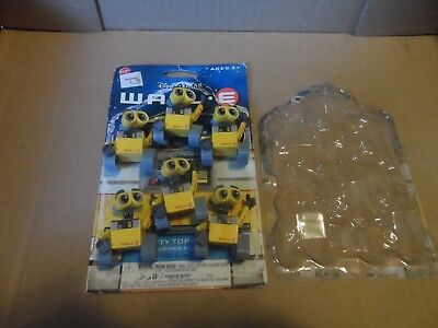 "Lot Of 6 Miniature 2"" Pvc Disney Pixar Wall-E Cake Toppers"
