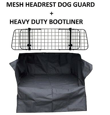 Mesh Car Dog Guard + Cargo Bootliner Rear For CITROEN C4 GRAND PICASSO20 07 ON 6