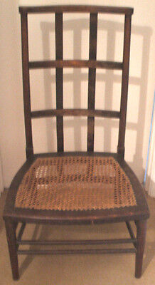 "Late Victorian Interesting Mahogany Cane Seat Nursing / Bedroom Chair GC 34.5""H"