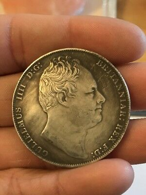 RESTRIKE 1837 William iiii Full Crown Silver Plated King 1 Coin