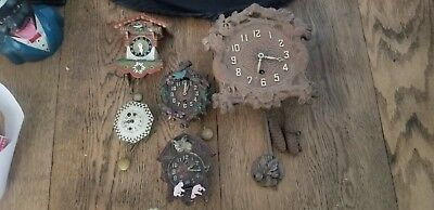 Antique Clocks Small Collection of 5 Clocks