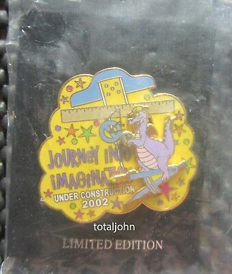 Disney WDW Figment Under Construction 2002 Slider Pin