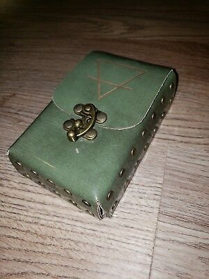 Tarot Leather Card / Deck Case gorgeous natural leather riveted sides