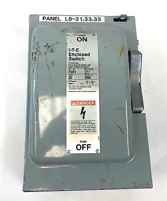 SIEMENS F351 600V 30A ITE High Voltage Electric Saftey Housing Switch