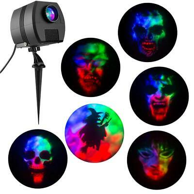 Halloween 3-Light Projection MultiColor LED Fire And Ice Specter Projector Stake