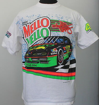 vintage 1992 KELY PETTY nascar MELLO YELLOW T SHIRT large 90s racing
